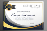 Premium Wavy Certificate Template Design | Certificate for Professional Award Certificate Template