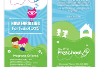 Preschool Flyer Template 06 | Starting A Daycare, Preschool within Daycare Brochure Template