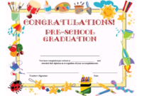 Preschool Graduation Certificate Template Free | Graduation within Free Printable Graduation Certificate Templates