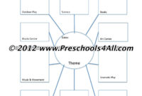 Preschool Lesson Plan Template – Lesson Plan Book Template within Blank Food Web Template
