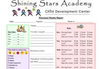 Preschool Progress Report Template | Report Card Template within Preschool Progress Report Template
