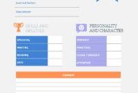 Preschool Report Card Template – Visme with Kindergarten Report Card Template
