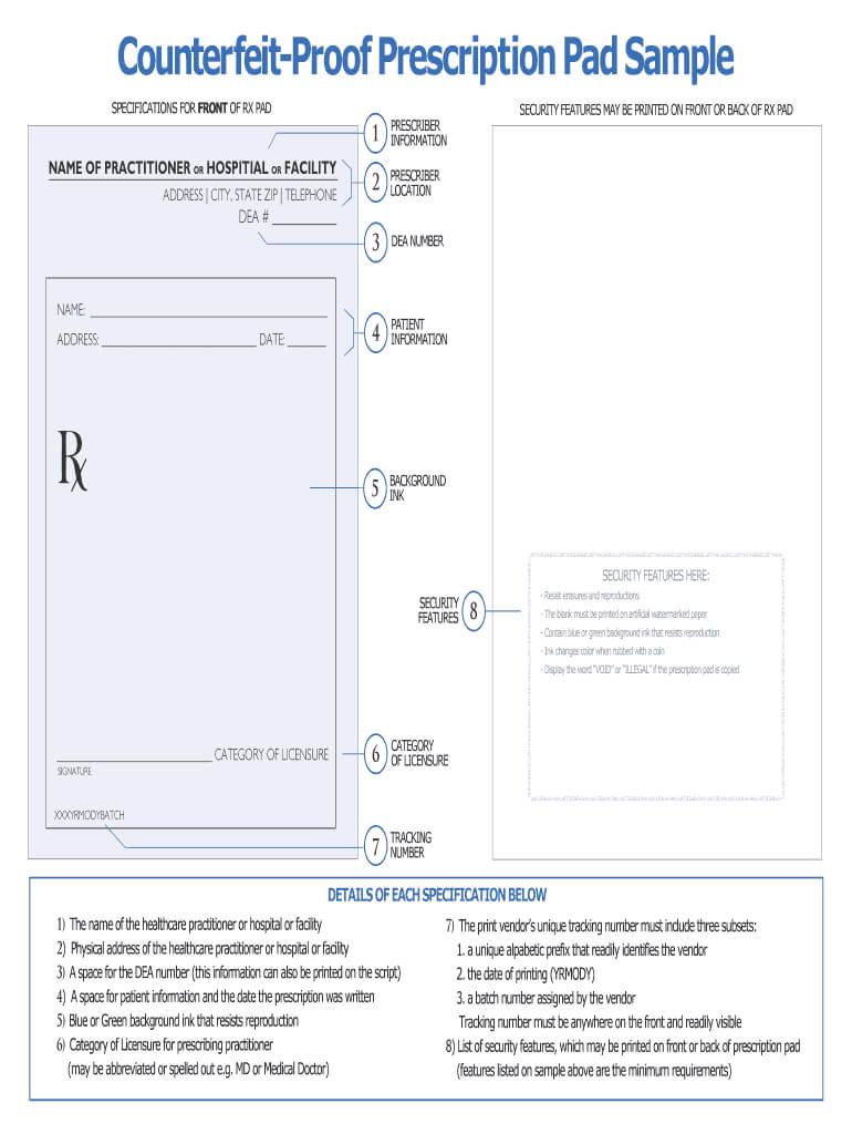 Prescription Pad Template - Fill Online, Printable, Fillable Throughout Blank Prescription Pad Template