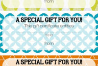 Pretty Printable Coupons. Give This To Let Them Know They intended for Magazine Subscription Gift Certificate Template