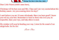 Print At Home Letters From Santa | Santa Claus Museum with Letter From Santa Template Word