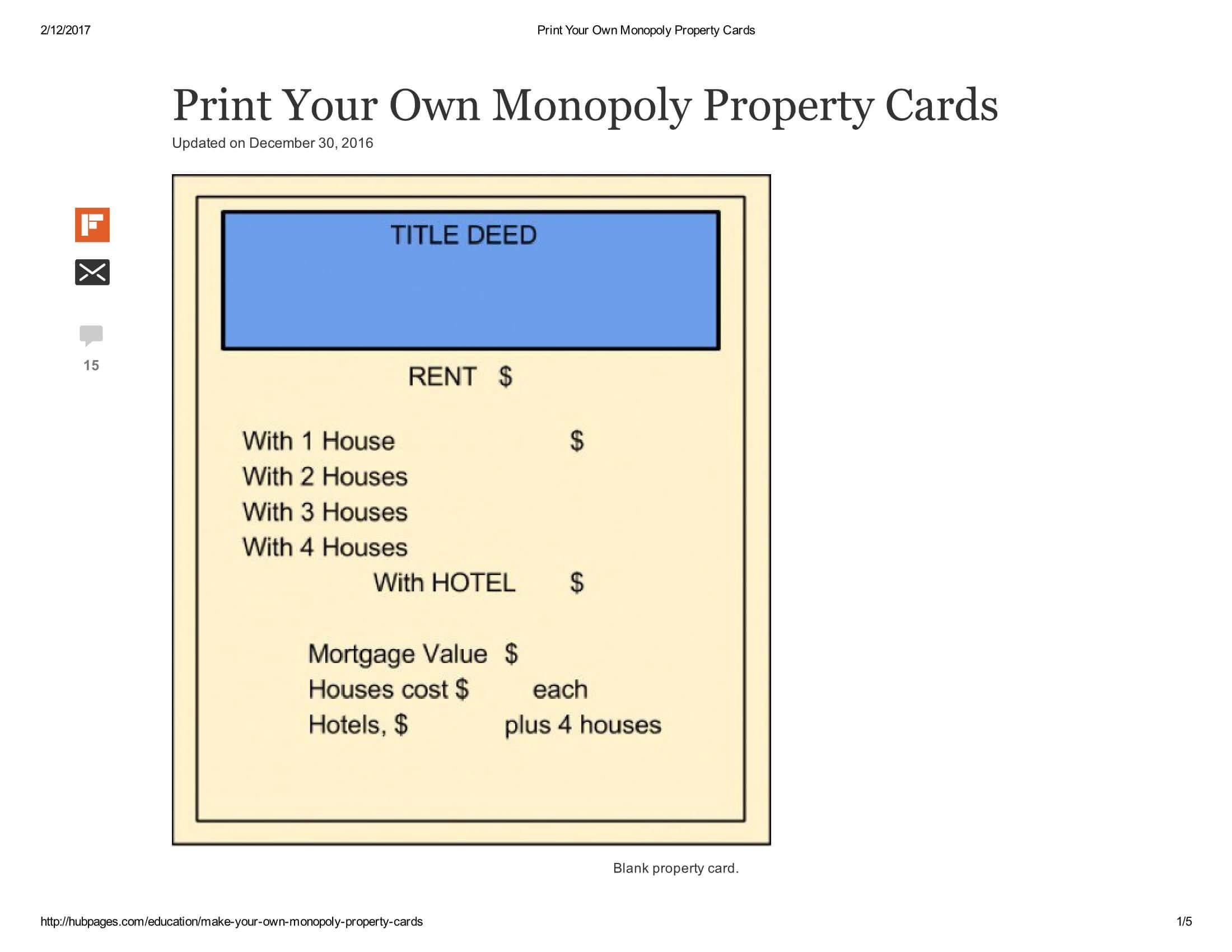 Print Your Own Monopoly Property Cards Document Pages 1 – 5 In Monopoly Property Cards Template