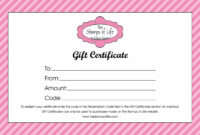 Printable 21 Free Free Gift Certificate Templates Word Excel within Tattoo Gift Certificate Template