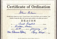 Printable 27 Images Of Free Printable Ordination Certificate in Free Ordination Certificate Template