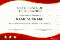 Printable 30 Free Certificate Of Appreciation Templates And intended for Certificate Of Appreciation Template Doc