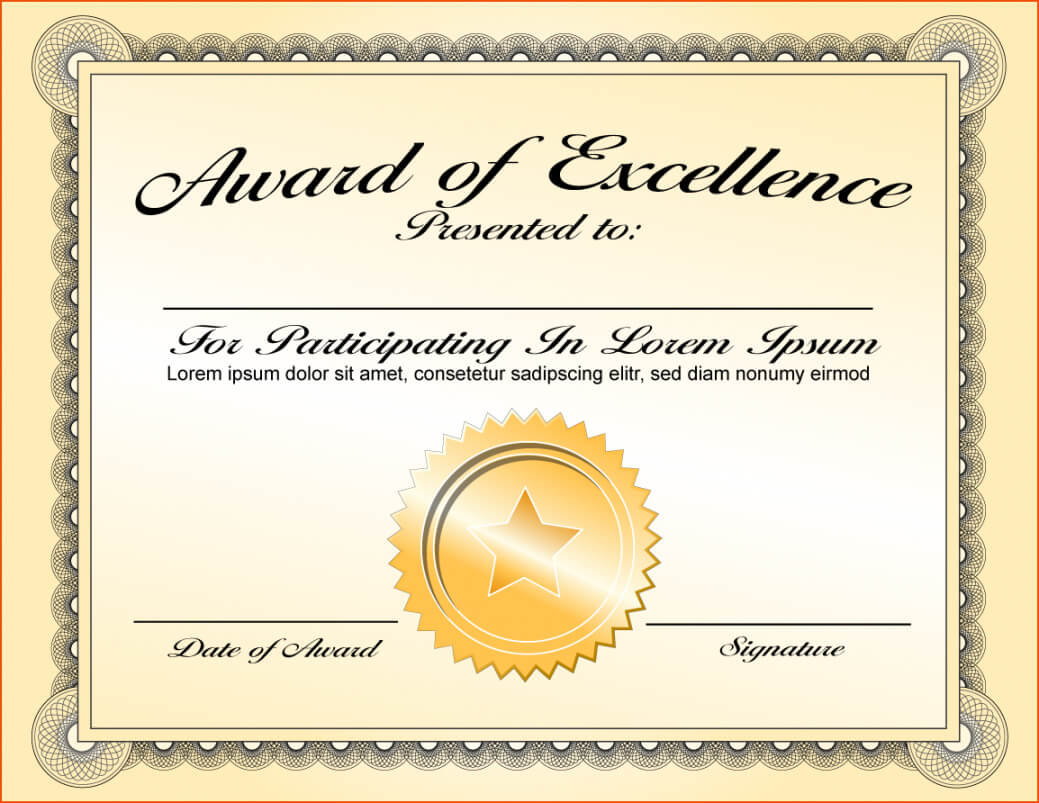 Printable Acknowledgement Certificate Templates Intended For Life Saving Award Certificate Template