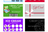 Printable (And Customizable) Play Credit Cards | Card Games within Credit Card Template For Kids