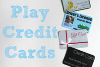 Printable (And Customizable) Play Credit Cards | Pretend pertaining to Credit Card Template For Kids