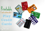 Printable (And Customizable) Play Credit Cards – The Crazy inside Credit Card Template For Kids