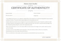 Printable Art Certificate Of Authenticity Template 12 in Certificate Of Authenticity Template
