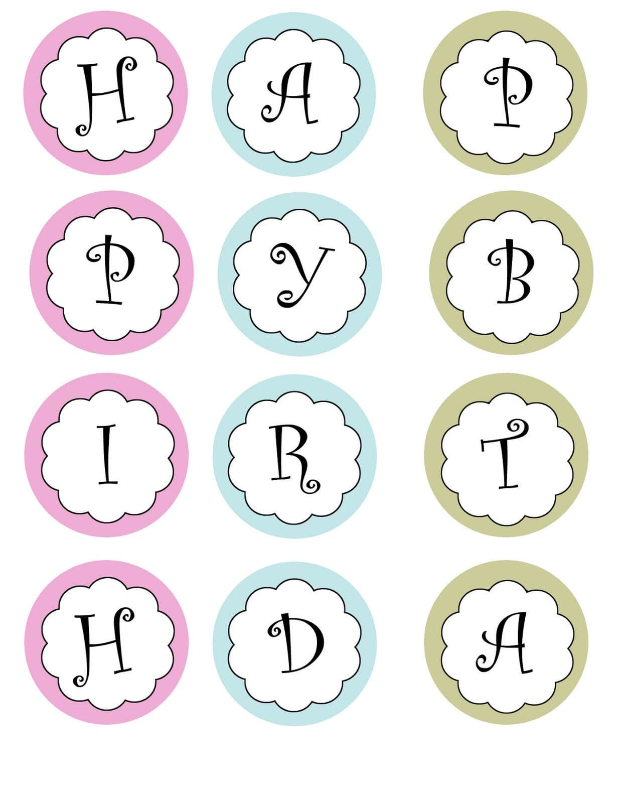 Printable Banners Templates Free | Print Your Own Birthday Throughout Free Printable Party Banner Templates