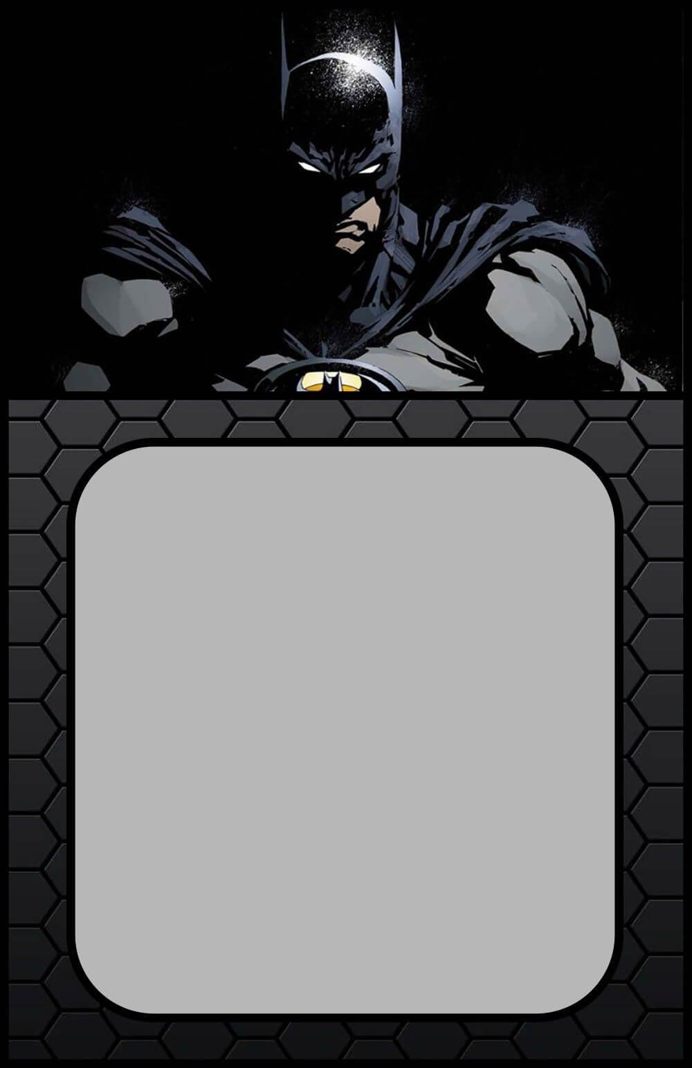 Printable Batman Invitation Card   Batman Invitations With Batman Birthday Card Template