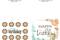 Printable Birthday Cards For Mom | Free Birthday Card for Template For Cards To Print Free