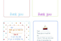 Printable Birthday Thank You Cards – | Birthday Thank You for Thank You Note Card Template
