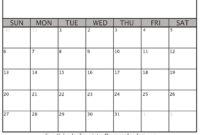 Printable Blank Calendar 2020 | Dream Calendars regarding Blank One Month Calendar Template