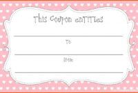 Printable Blank Coupons Template | Free Coupon Template regarding Blank Coupon Template Printable