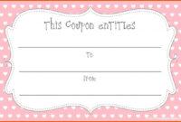 Printable Blank Coupons Template | Free Coupon Template within Love Coupon Template For Word