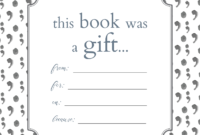 Printable Bookplates For Donated Books | Book Gifts, Book with Bookplate Templates For Word