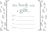 Printable Bookplates For Donated Books | Book Labels, Book with Bookplate Templates For Word