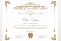 Printable Certificate Of Appreciation, Certificate Template regarding Retirement Certificate Template