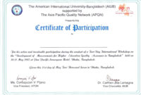 Printable Certificate Of Participation – Sample Certificate intended for Sample Certificate Of Participation Template