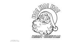 Printable Christmas Card Templates To Color – Wedding in Printable Holiday Card Templates
