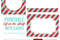 Printable Elf On The Shelf Note Cards | Elf, Christmas Note with Christmas Note Card Templates