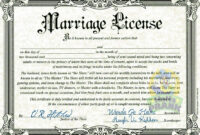 Printable Fake Marriage Certificate Template – Zimer.bwong.co with regard to Blank Marriage Certificate Template