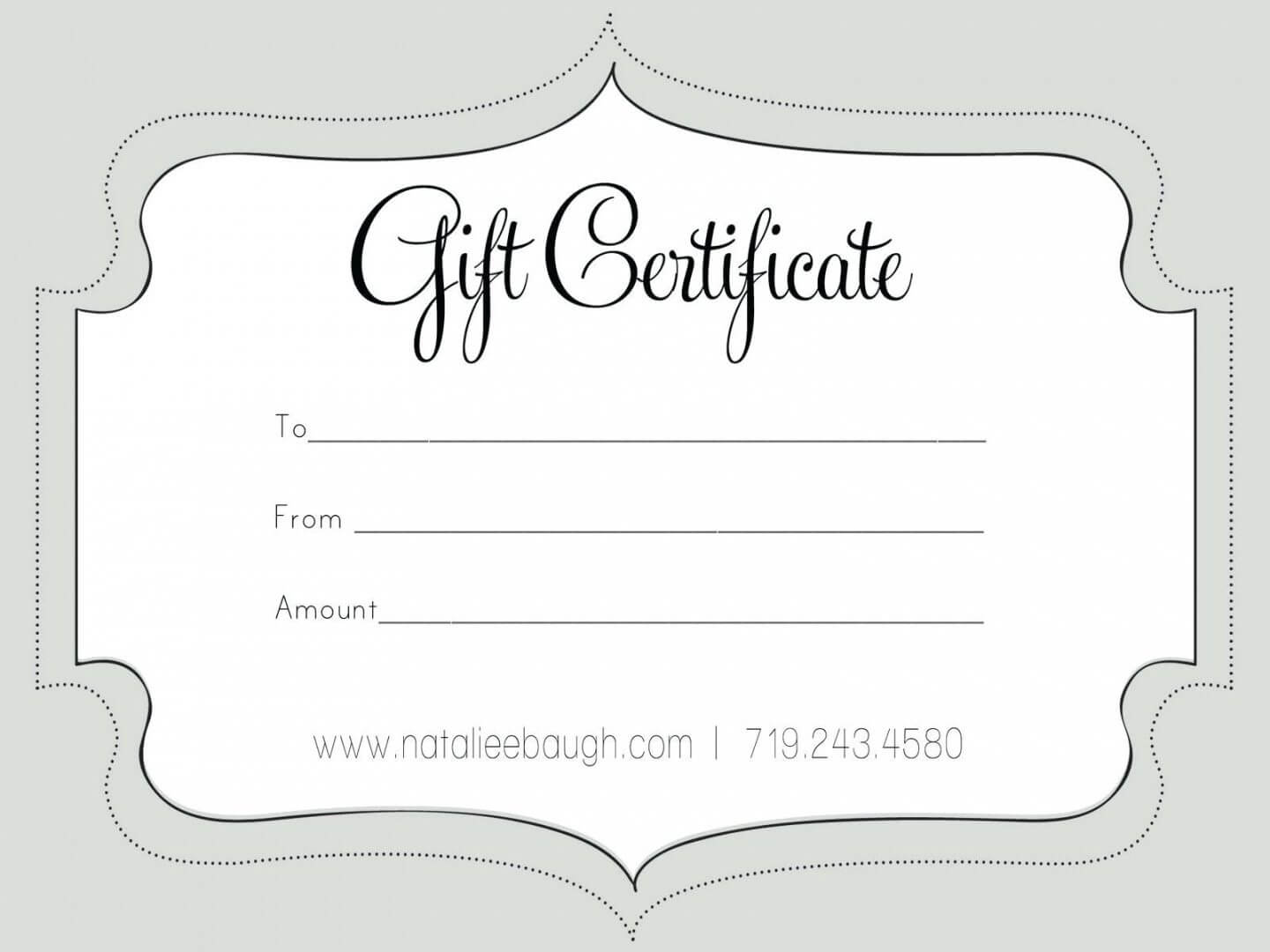 Printable Fillable Gift Certificate Template Custom Intended For Custom Gift Certificate Template