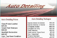Printable Free Auto Detailing Gift Certificate Template within Automotive Gift Certificate Template