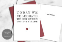 Printable Funny Anniversary Card For Him Instant Download in Template For Anniversary Card
