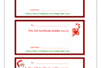 Printable Gift Card Certificate Template in Fillable Gift Certificate Template Free
