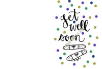 Printable Hand-Lettered Get Well Soon Card | Hand Lettering pertaining to Get Well Soon Card Template