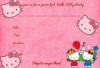 Printable Hello Kitty Birthday Invitation Template | Hello pertaining to Hello Kitty Birthday Card Template Free
