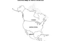Printable Map Of North America | Pic Outline Map Of North pertaining to United States Map Template Blank