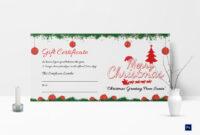 Printable Merry Christmas Gift Certificate Inside Merry Christmas Gift Certificate Templates