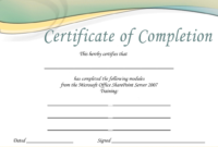 Printable Microsoft Office Certificate | Certificate Templates throughout Microsoft Office Certificate Templates Free