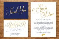Printable Navy Blue And Gold Wedding Invitation/wedding with regard to Wedding Card Size Template