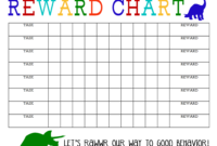 Printable Reward Chart – The Girl Creative regarding Blank Reward Chart Template