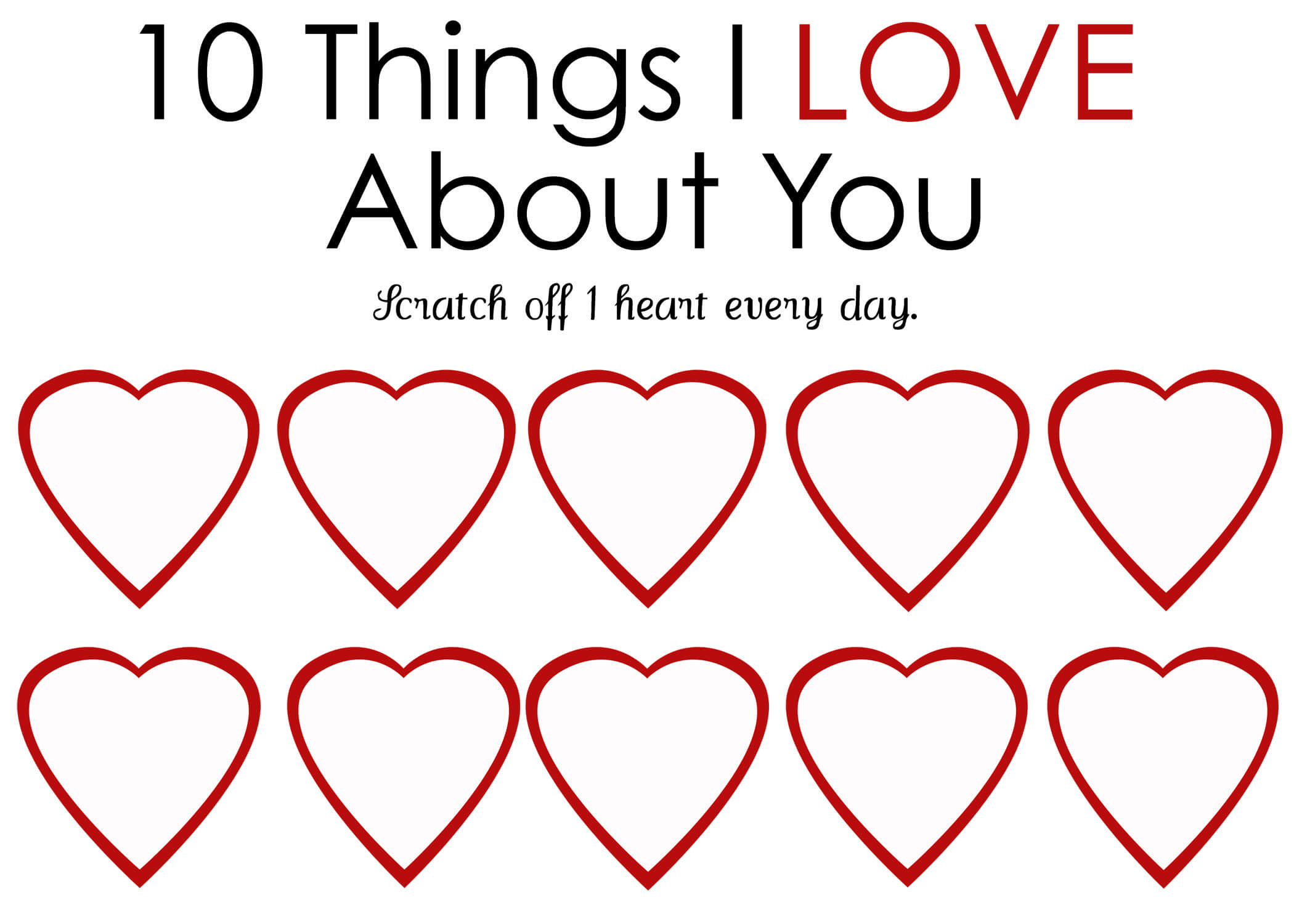 Printable Scratch Off Card {Easy Peasy Valentine} For Scratch Off Card Templates