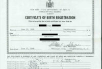 Printable Sensational Official Birth Certificate Template throughout Official Birth Certificate Template