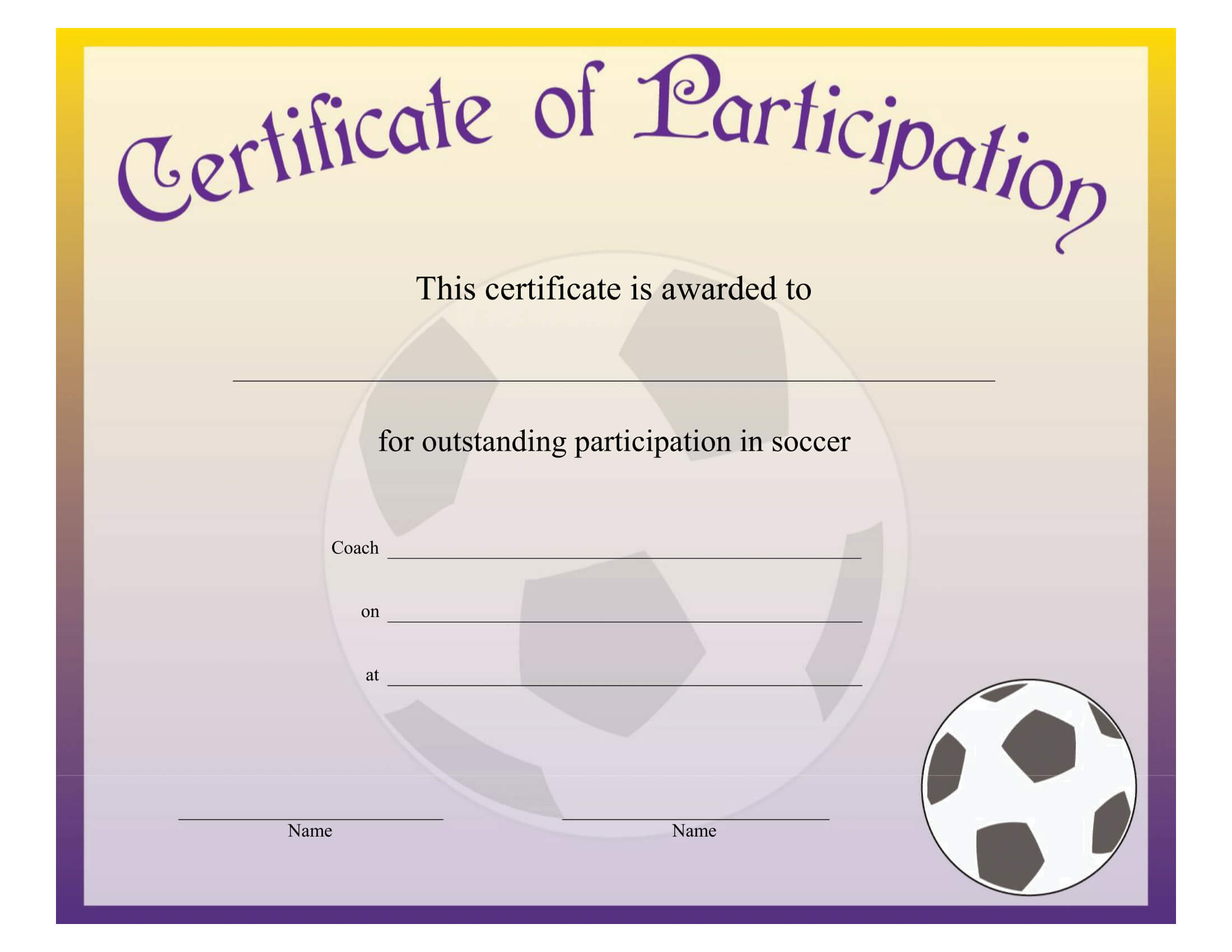 Printable Soccer Achievement Certificate - Free Download Throughout Soccer Certificate Templates For Word