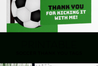 Printable Soccer Party Thank You Tags In 2020 | Soccer Party in Soccer Thank You Card Template