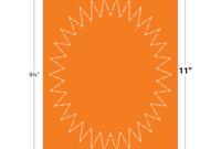 Printable Starburst Shape – Bittersweet – Cover | Blanks/usa regarding Blanks Usa Templates