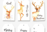Printable Tags For Your Christmas Gifts And Decor intended for Homemade Christmas Gift Certificates Templates