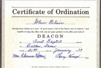 Printable Template Design Ordination Certificate Template throughout Certificate Of Ordination Template